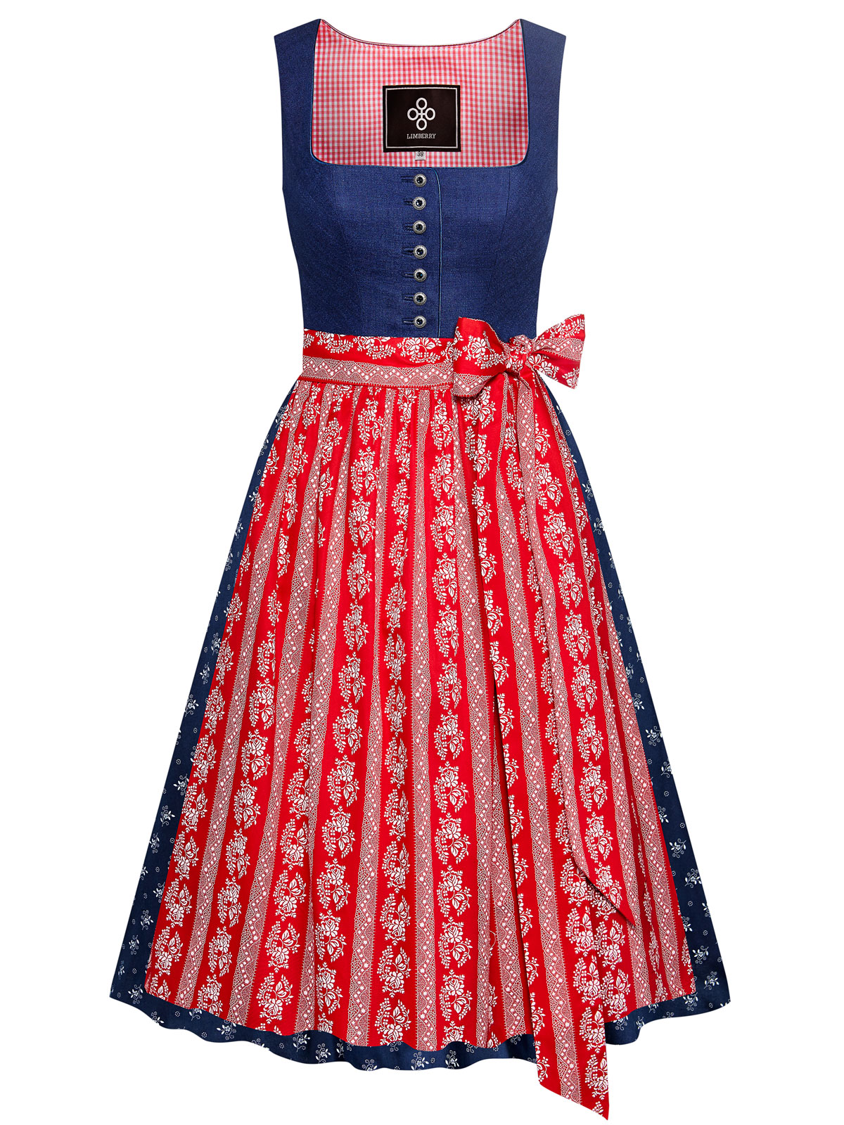 LIMBERRY Leinendirndl in Blau