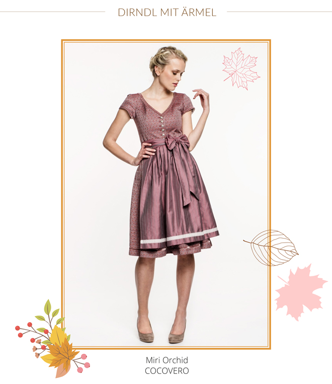 Cocoverio Dirndl Miri Orchid