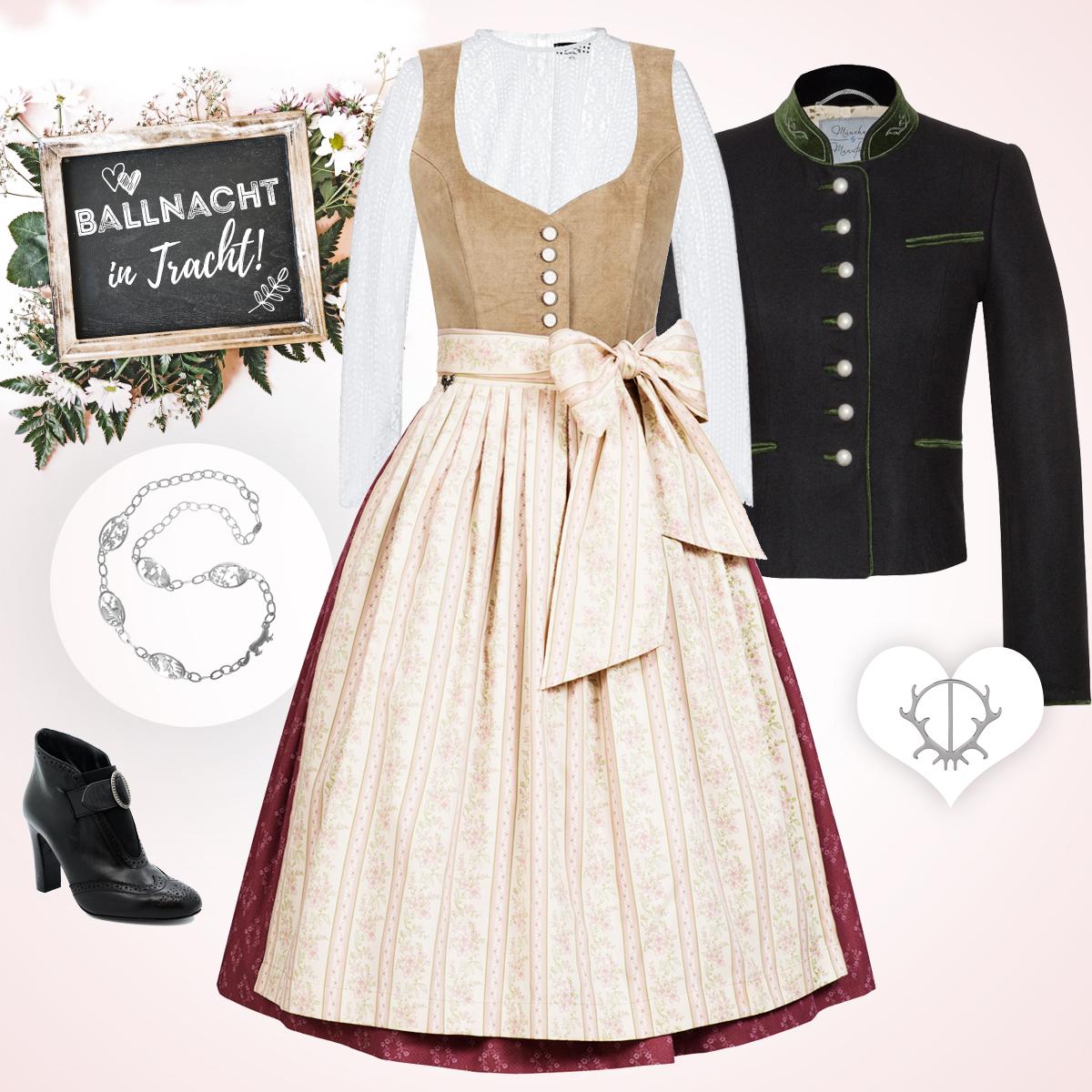 Traditioneller Dirndl-Look im Dirndl Janni Pale Blush von Cocovero,