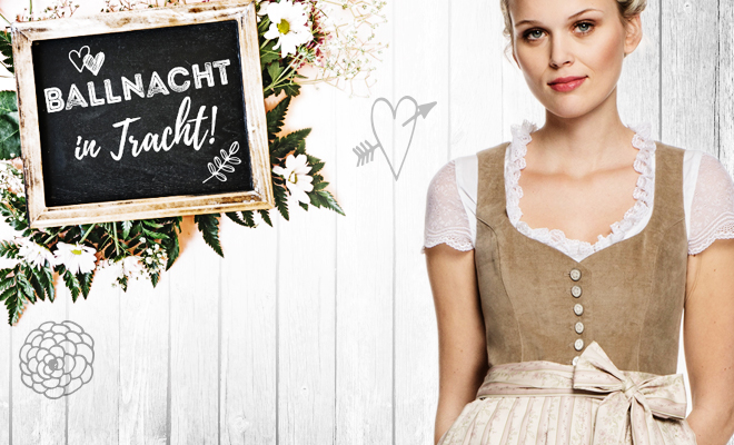 Winterball Dirndl Tracht Outfit